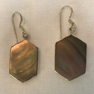 NEW! Mother of Pearl 925 Sterling Silver Earrings